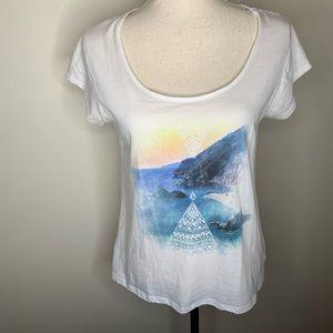 Volcom abtract landscape t-shirt.